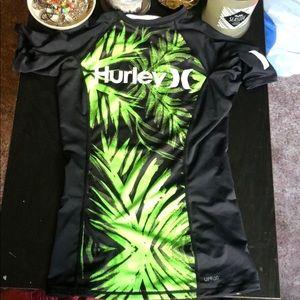 hurley rash guard shirt